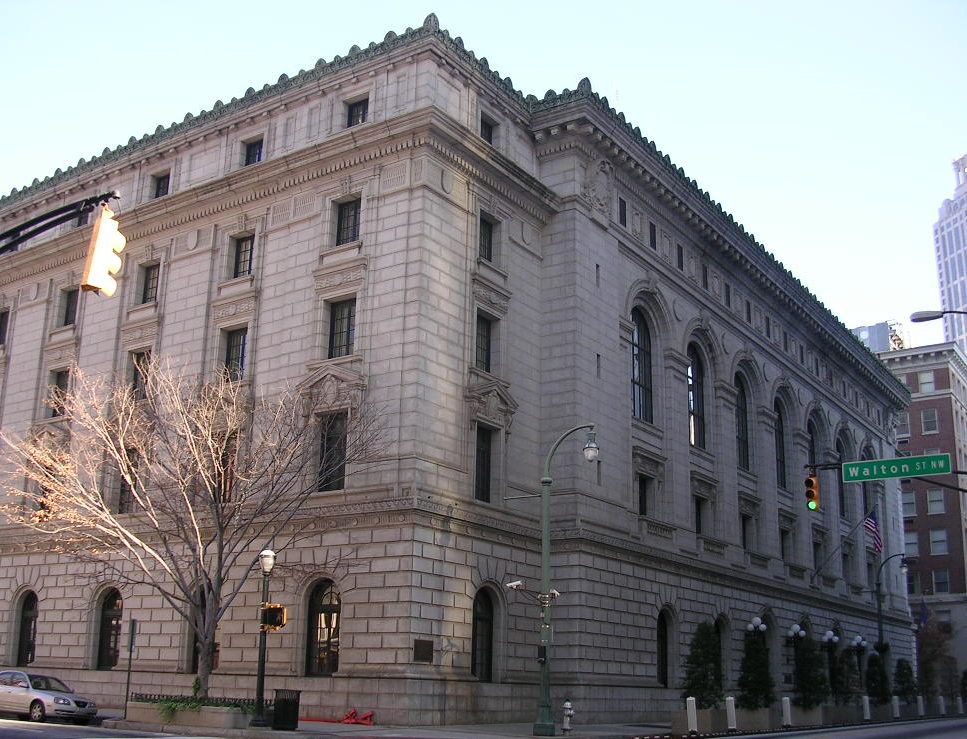 Street view of the Elbert P Tuttle US Courthouse, 11th Circuit Court of Appeals