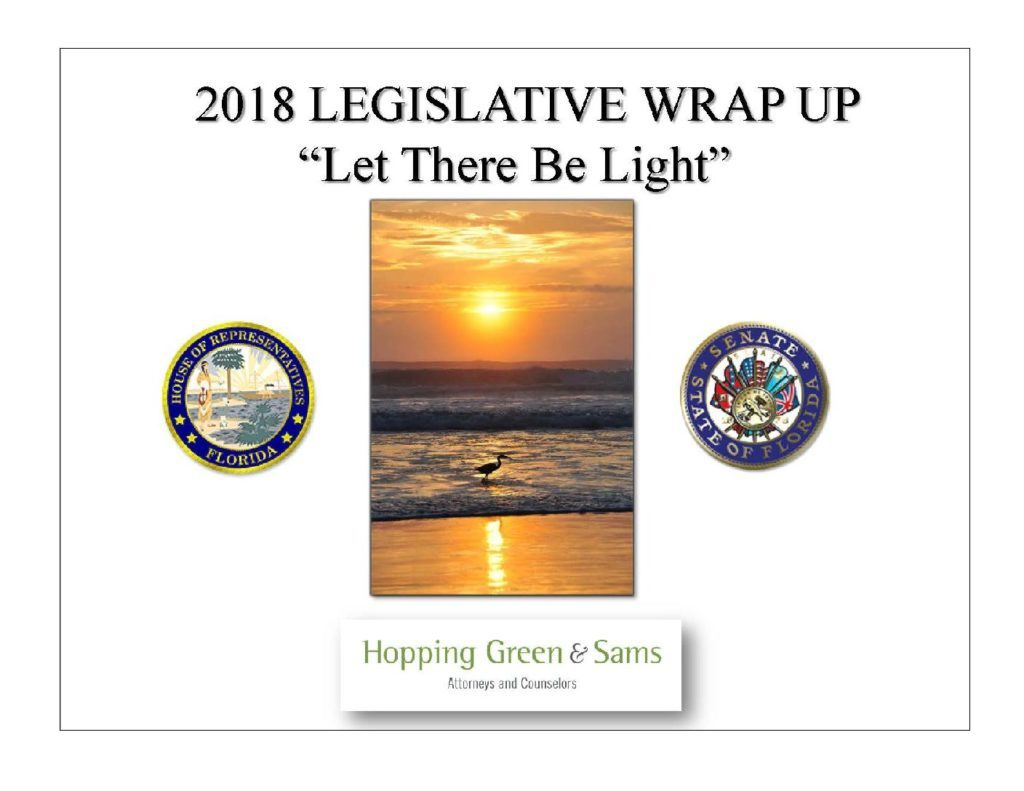 2018 Legislative Wrap Up